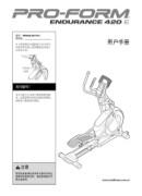 ProForm Endurance 420 E Elliptical Manual Downloads