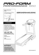 ProForm Performance 1650 Treadmill Manual Downloads