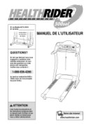 Healthrider 500 sel treadmill support and manuals.